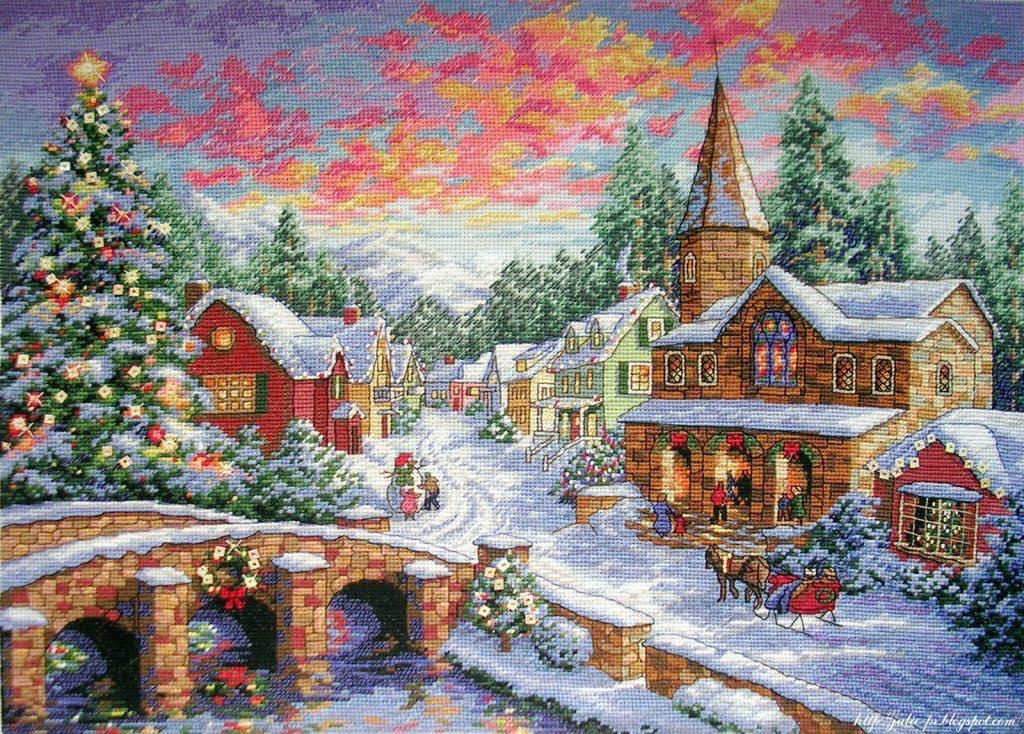 Holiday village / Рождественская деревенька Dimensions