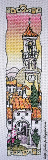 Spanish hill town bookmark