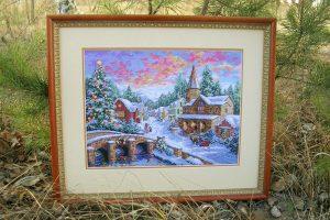 вышивка крестом Рождественская деревня (Holiday Village) - Dimensions 08783