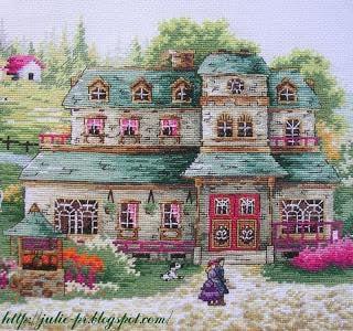 A green village, Зеленая деревнька, DOME 80302, вышивка крестом