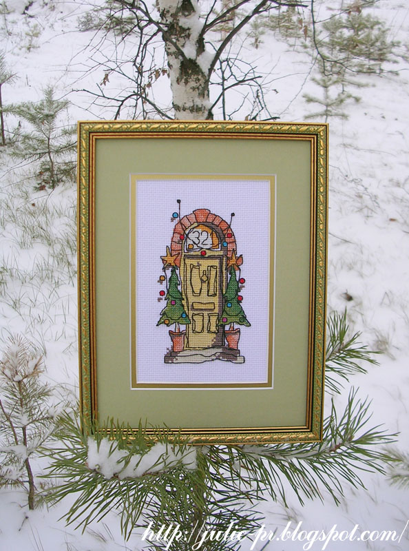 Вышивка крестом Michael Powell Christmas Front Door