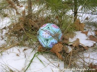 Twilight Pearls Leaf Ball, Just Nan, вышивка крестом, мячик, шарик, как собрать