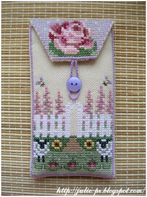 20 flowers, Just Nan, вышивка крестом, барашки, чехол для телефона