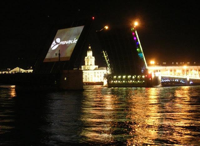 Граффест, Дворцовый мост, Санкт-Петербург, развод мостов