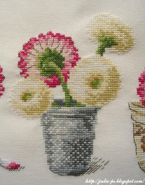 Маргаритки в наперстках, DFEA 48, De fil en aiguille № 48, вышивка крестом