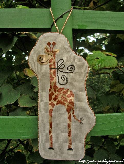 Gigi la girafe, Tralala, пинкип, жираф, вышивка крестом