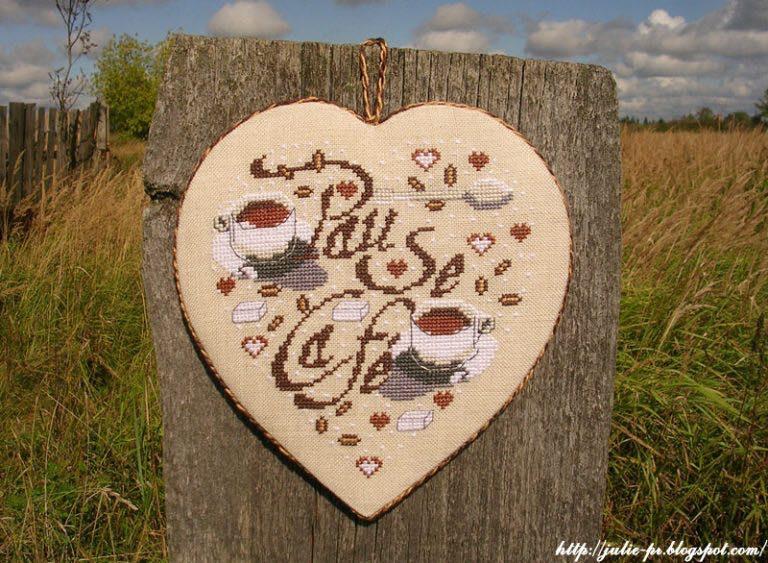 Кофейное сердце Isabelle Vautier