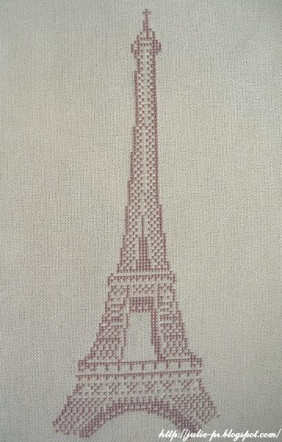 Эйфелева башня, журнал Вышиваю крестиком, спецвыпуск Сказка странствий, парижская красавица, вышивка крестом