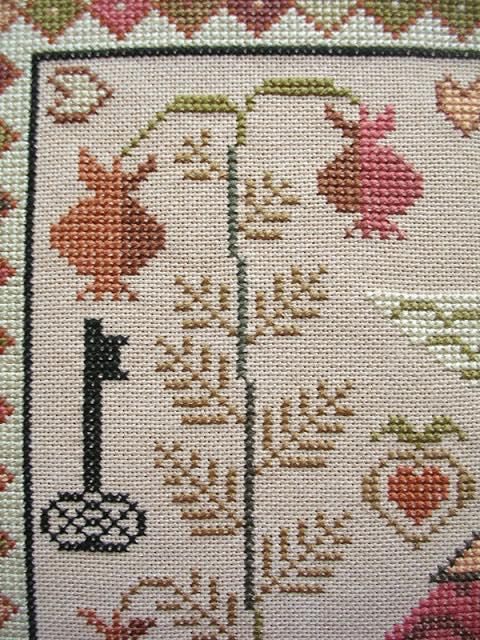 вышивка кресто, Carriage House Samplings, Frederika, Фредерика, Kathy Barrick, примитив