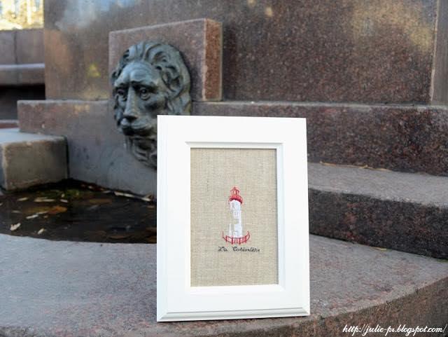 Marie-Thérèse Saint-Aubin, MTSA, Voyage, dans la lumière des phares, le phare de la Côtinière, вышивка крестом, маяк, вышивка, point de croix