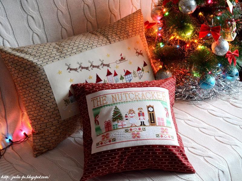 En retard, Madame Chantilly, Щелкунчик, The Nutcracker, CCN, вышивка, вышивка крестом, подушка, новогодняя подушка, вышивка щелкунчик
