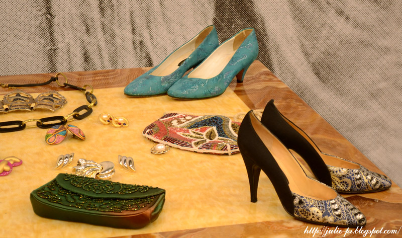 выставка, Александр Васильев, гламур 80-х, туфли, клатч, вышивка бисером