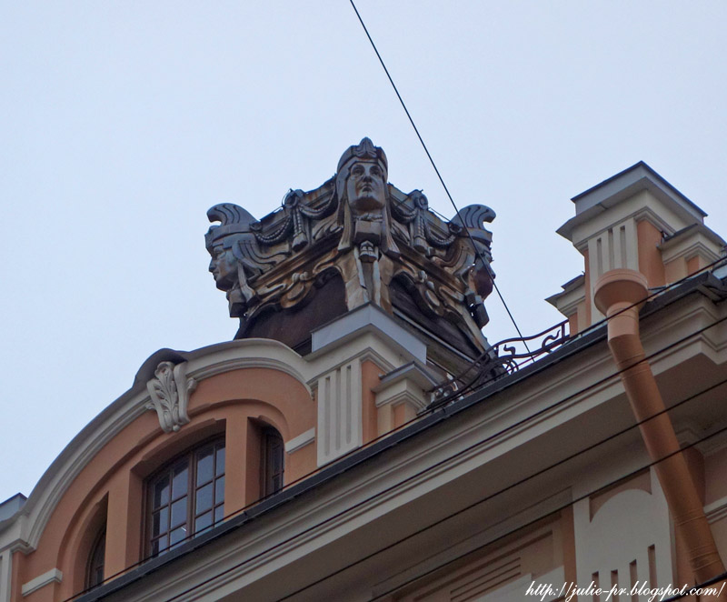Санкт-Петербург, ноябрь, крыши Петербурга