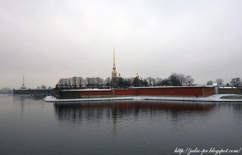 Санкт-Петербург, ноябрь, Петропавловская крепость, Нева