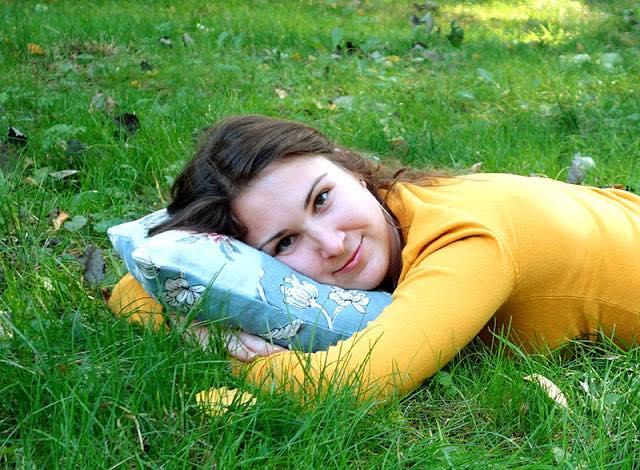 Подушка «Георгины»