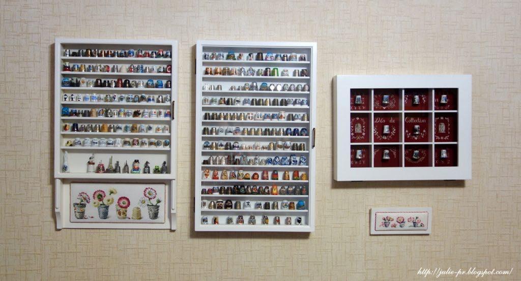 наперстки, вышивка крестом, Véronique Enginger, De fil en aiguille, DFEA, Création point de croix, французская вышивка