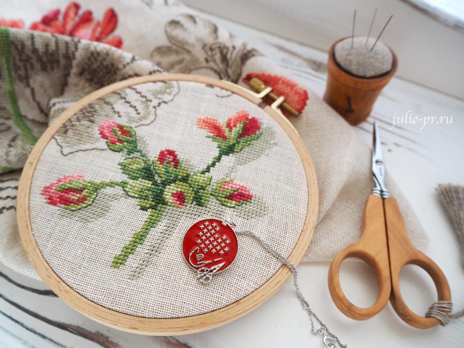 ботаника, вышивка крестом, французская вышивка, Veronique Enginger, Les brodeuses parisiennes, герань, парижские вышивальщицы
