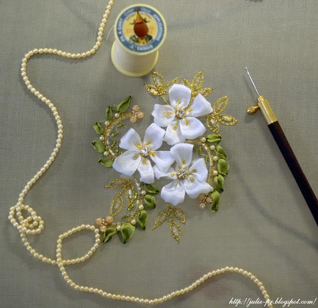 люневильская вышивка, вышивка люневильским крючком, la broderie de luneville, вышивка лентами, вышивка бисером