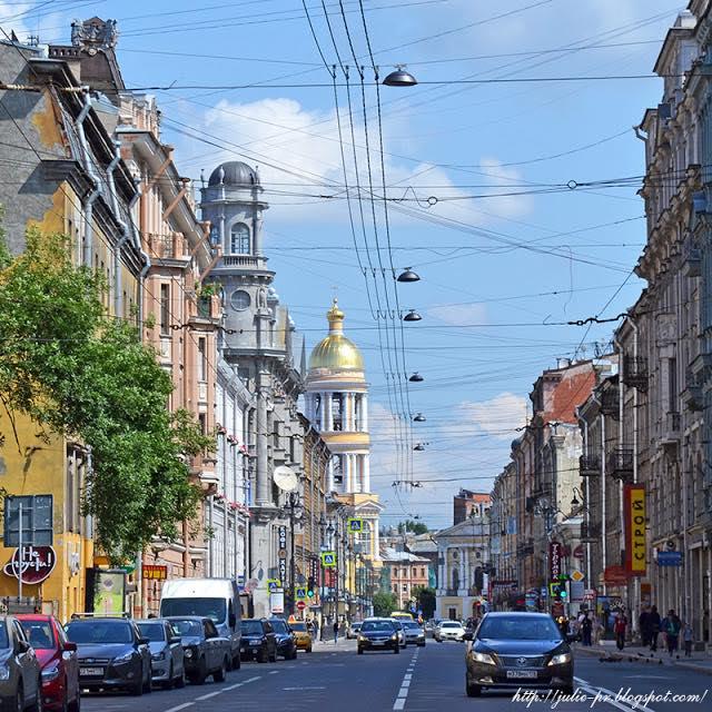 Санкт-Петербург, пять углов, перекрёсток Загородного проспекта, Разъезжей улицы, улицы Рубинштейна и улицы Ломоносова