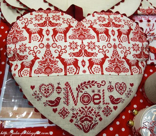les brodeuses parisiennes, парижские вышивальщицы, атмосфера творчества, сердце скандинавское рождество