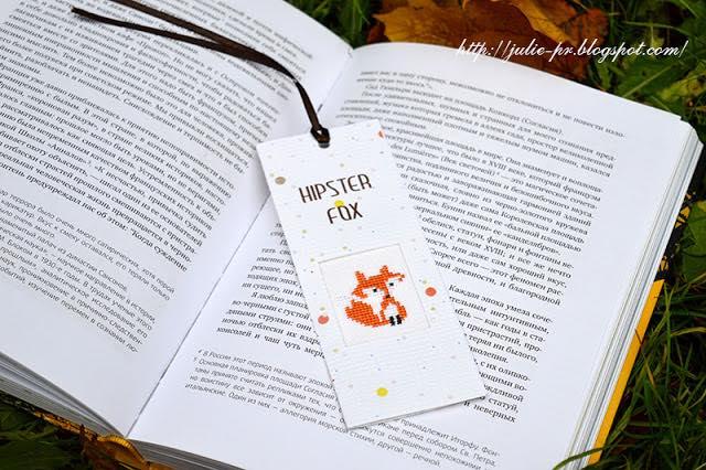 закладка, вышивка крестом, Luca-S N-26 Hipster Fox