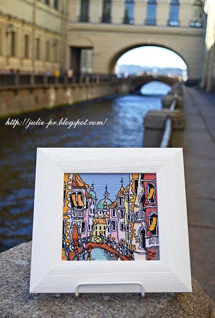 Michael Powell, Mini Venice Bridge, Майкл Пауэлл, Венеция, вышивка крестом