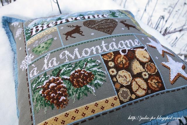 Madame la Fee, Bienvenue a la Montagne, Добро пожаловать в горы, французская вышивка, вышивка крестом