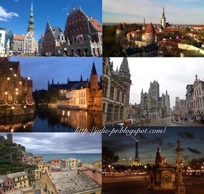 Таллин, Рига, Брюгге, Гент, Париж, Корнилья