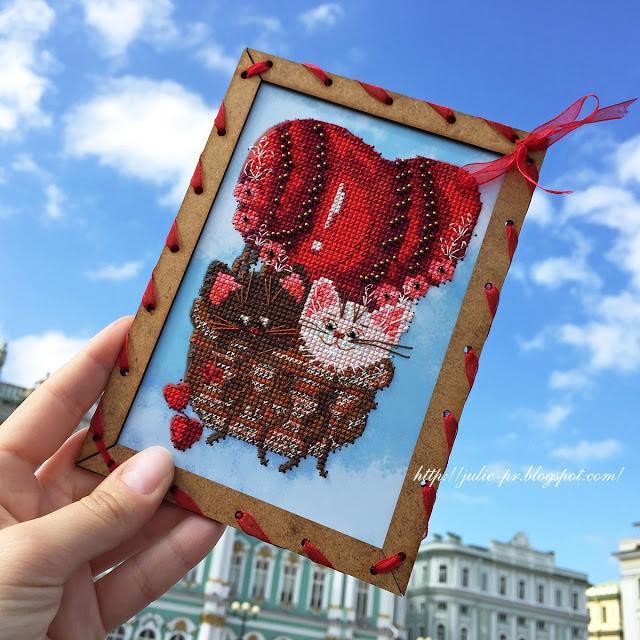 вышивка крестом и бисером Nova Sloboda ОР7563 Шар любви
