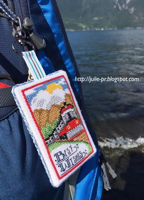 бирка для багажа, вышивка крестом, Джоан Эллиот, Joan Elliott, журнал Вышиваю крестиком. Спецвыпуск N2 Мужской клуб 2014, поезд
