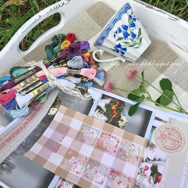 Вышивка крестом полотенце коллекция чашек Парижские вышивальщицы, Collection des tasses Les brodeuses parisiennes