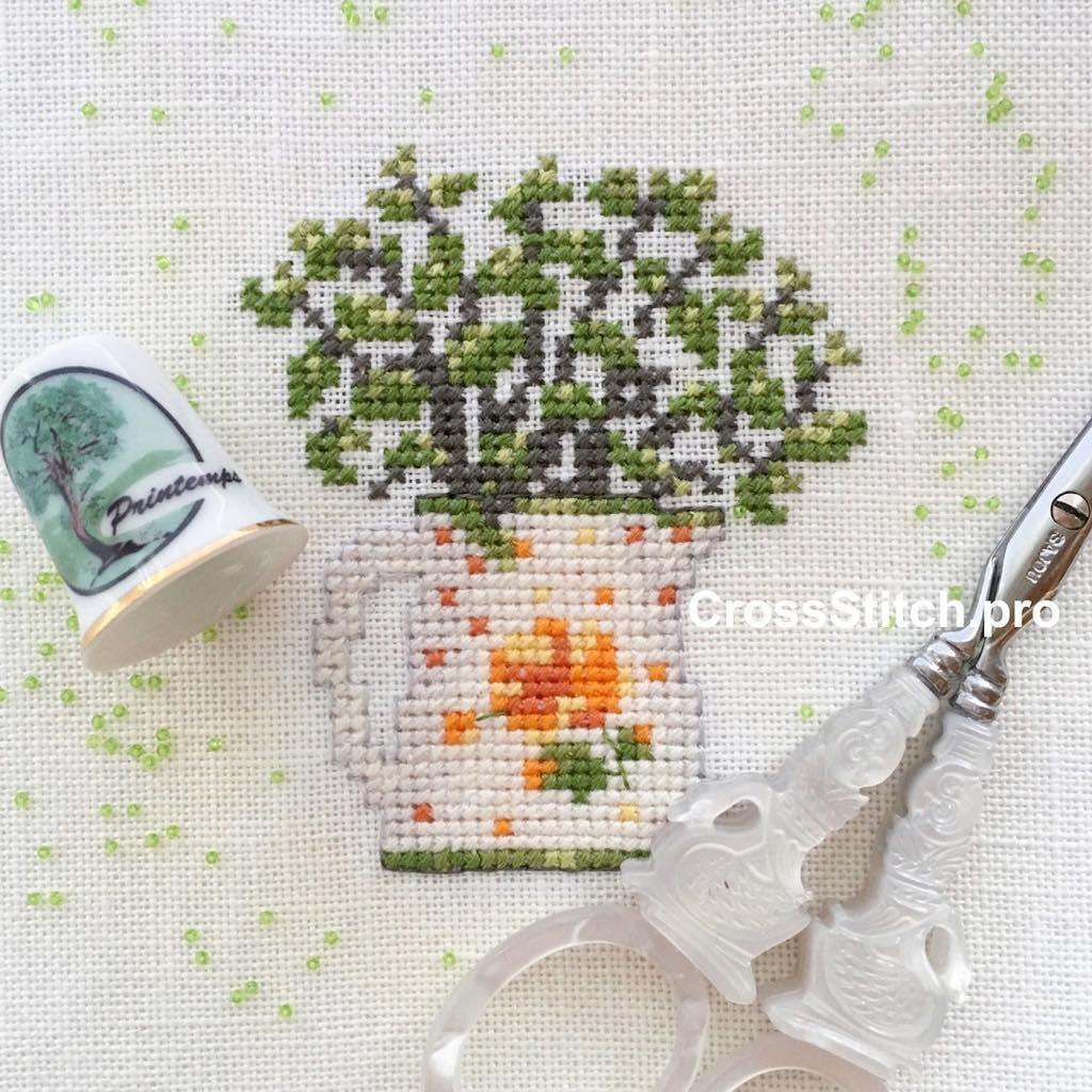 Вышивка крестом, Madame la fee, Bouquet de printemps, Весенний букет