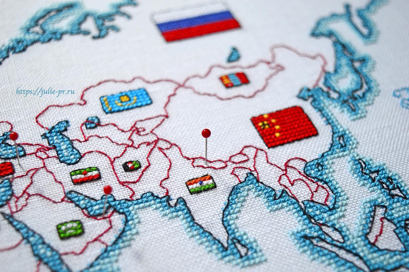 Вышивка крестом DMC K3413 DMC K3413 - Oceania collection, Карта мира. Азия, Непал