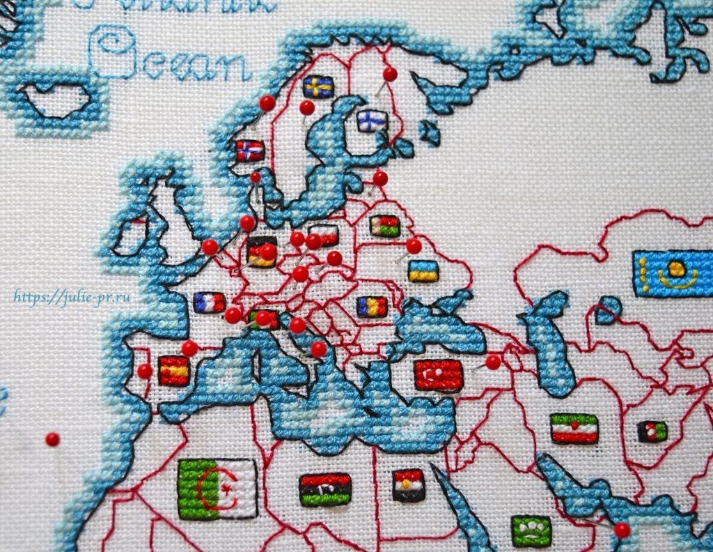Вышивка крестом DMC K3413 DMC K3413 - Oceania collection, Карта мира. Европа