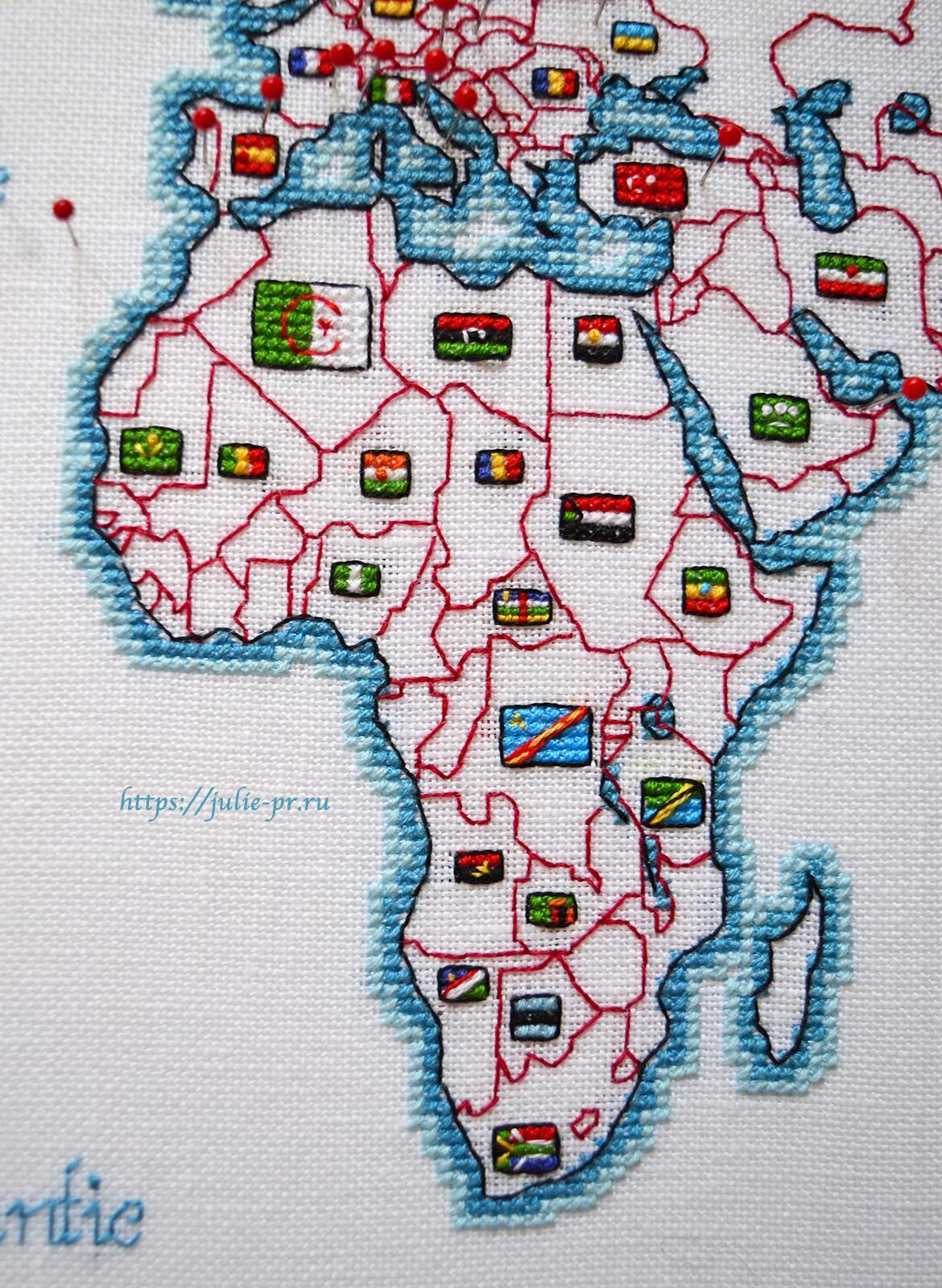 Вышивка крестом DMC K3413 DMC K3413 - Oceania collection, Карта мира. Африка
