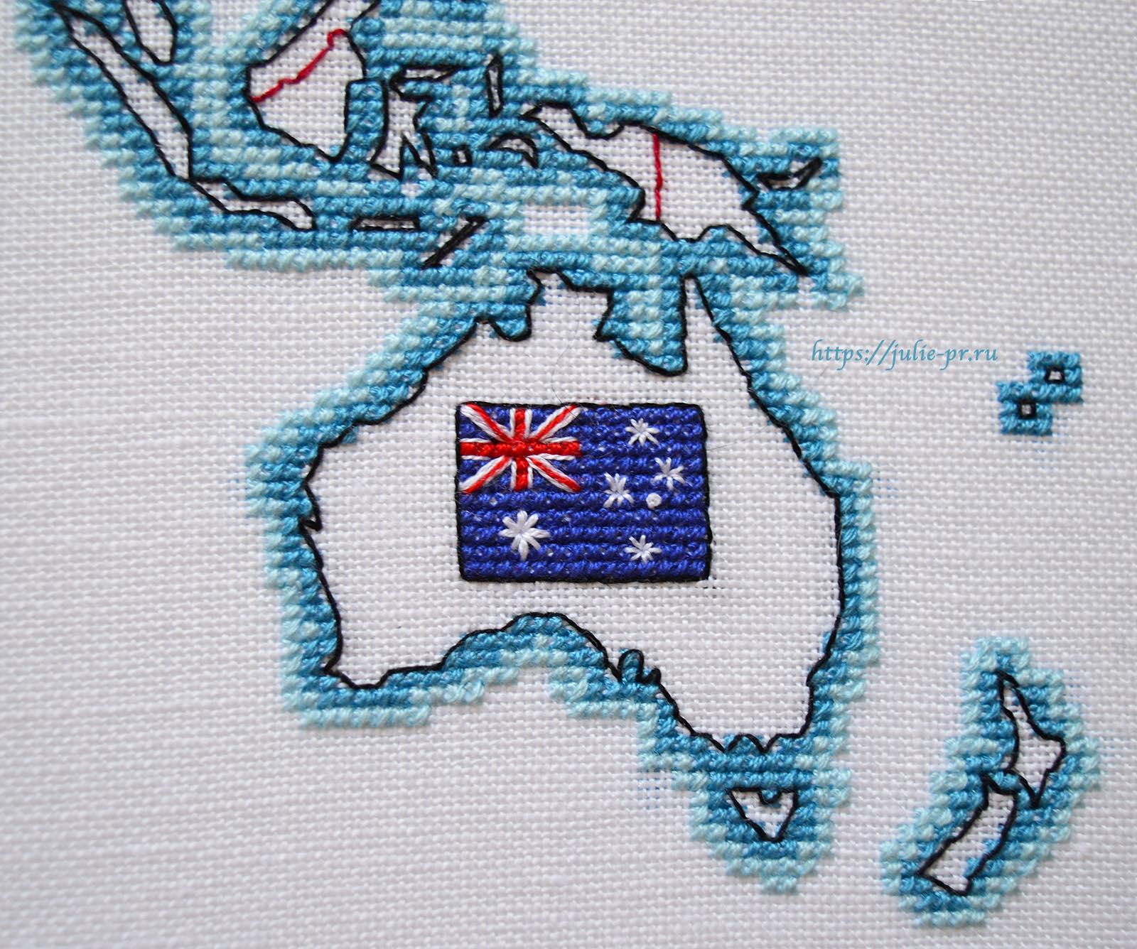 Вышивка крестом DMC K3413 DMC K3413 - Oceania collection, Карта мира. Австралия