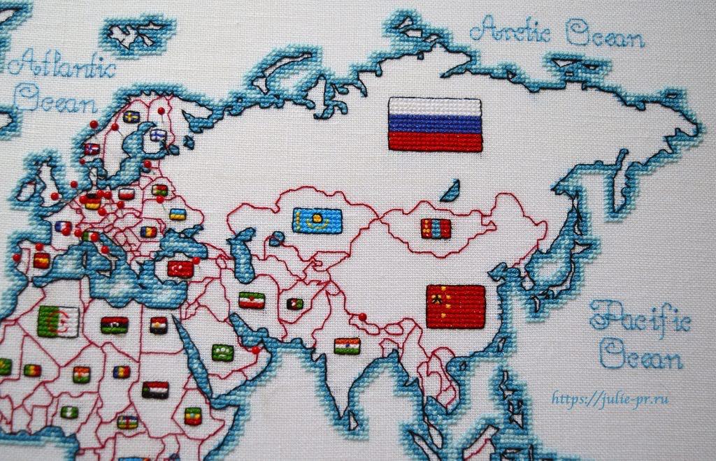 Вышивка крестом DMC K3413 DMC K3413 - Oceania collection, Карта мира. Евразия