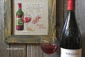 Veronique Enginger - Cuvee Du Patron, DFEA 51, вино, бокал вина, бутылка, вышивка крестом