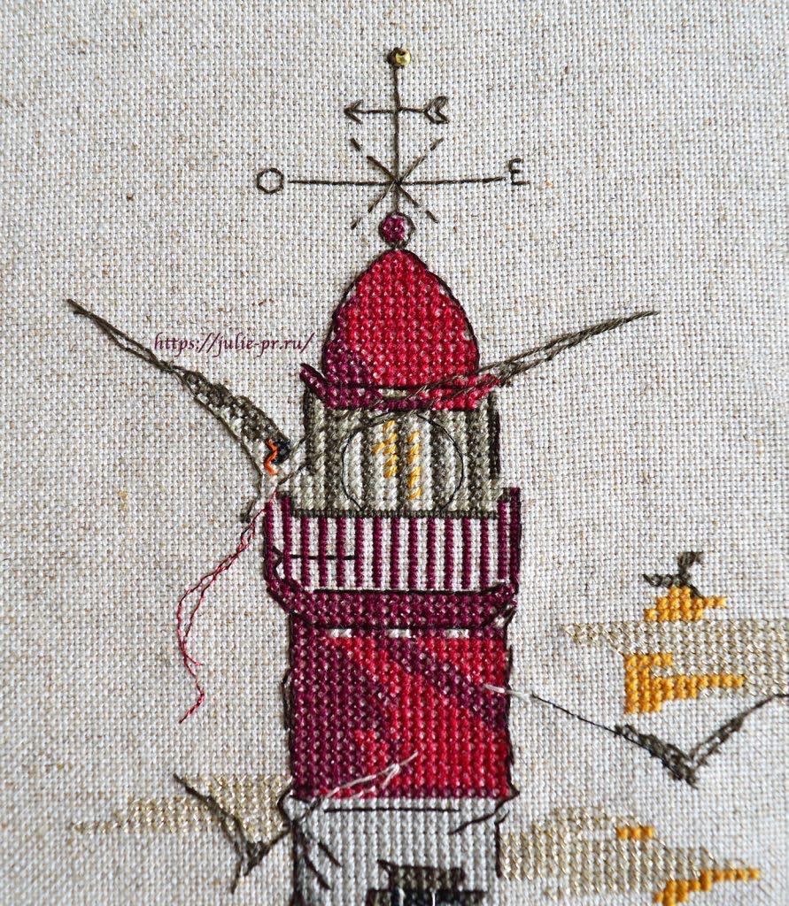 Soizic - Le phare aux mouettes / Маяк, вышивка крестом