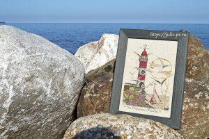 Вышивка крестом Soizic, Le Phare Aux Mouettes, маяк Суазик