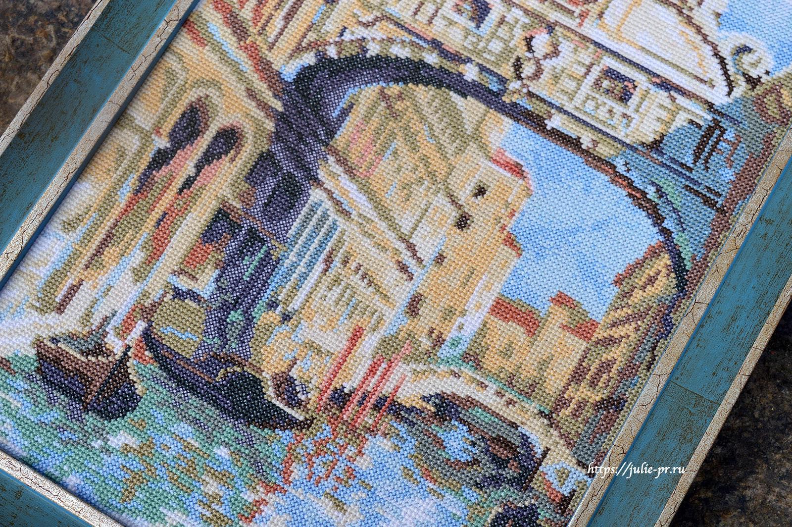 Вышивка крестом, риолис, riolis 1552, Венеция, Мост вздохов
