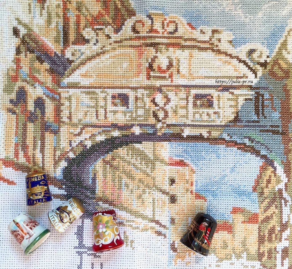 Вышивка крестом Риолис 1552 Венеция Мост Вздохов