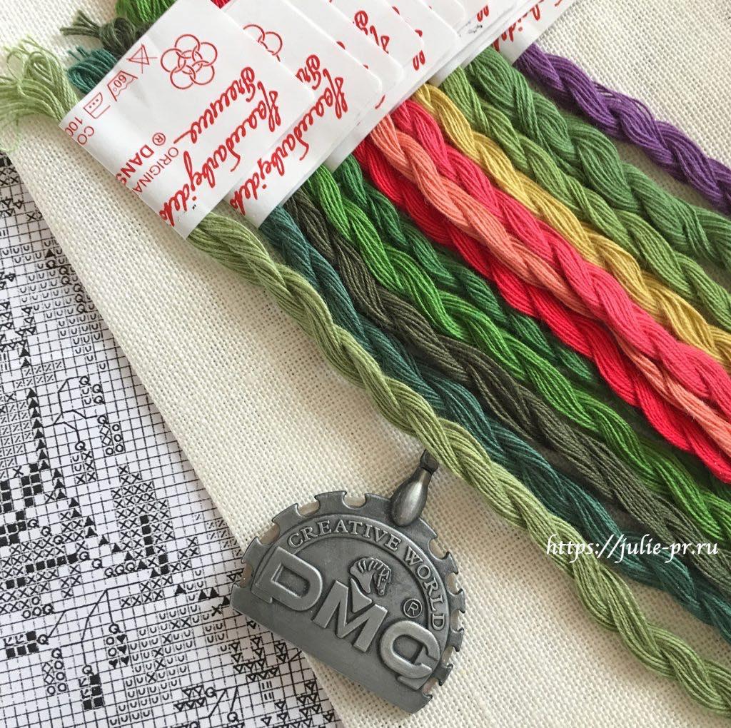 Вышивка крестом Gerda Bengtsson, мулине The Danish Flower Thread (DFT)