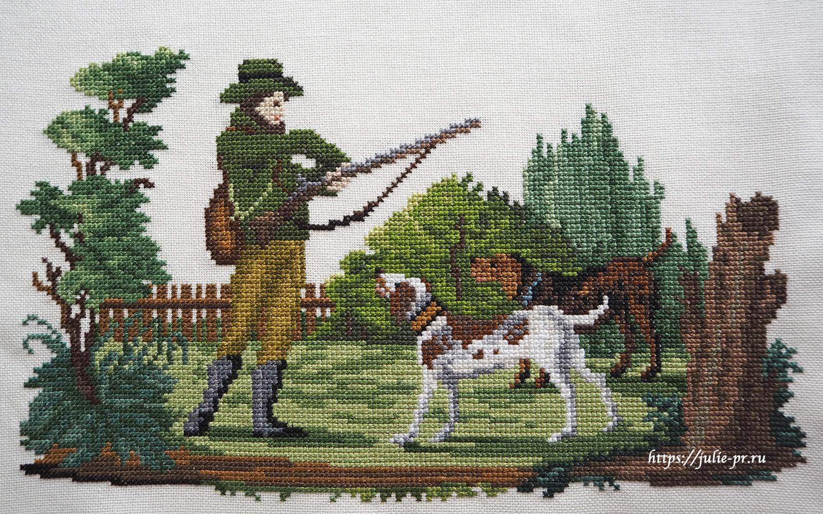 Вышивка крестом Raffaella Serena - Nei boschi, a Cortina (В лесах Кортины), берлинская вышивка