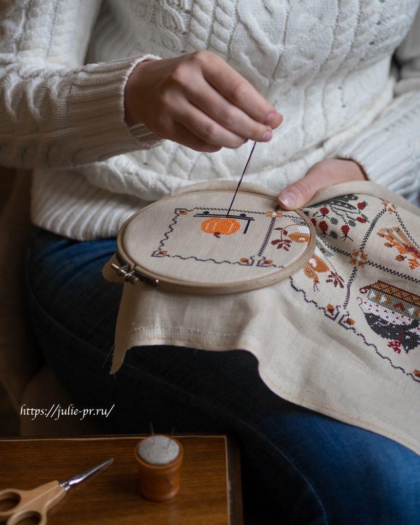 Вышивка крестом Cuore e batticuore - Shabby Autumn Calendar / Осенний шебби календарь