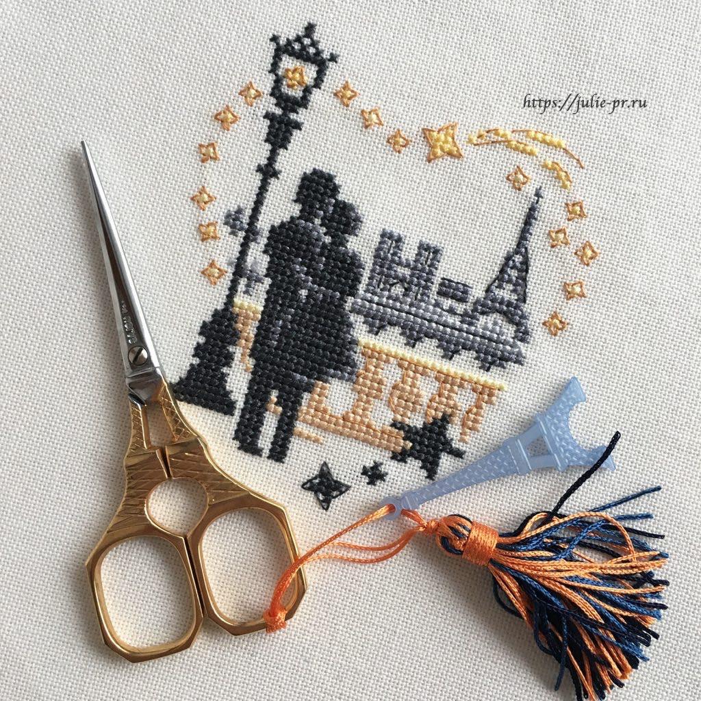 Вышивка крестом Paris est un poeme Les brodeuses parisiennes / Парижские вышивальщицы, ножницы Sajou