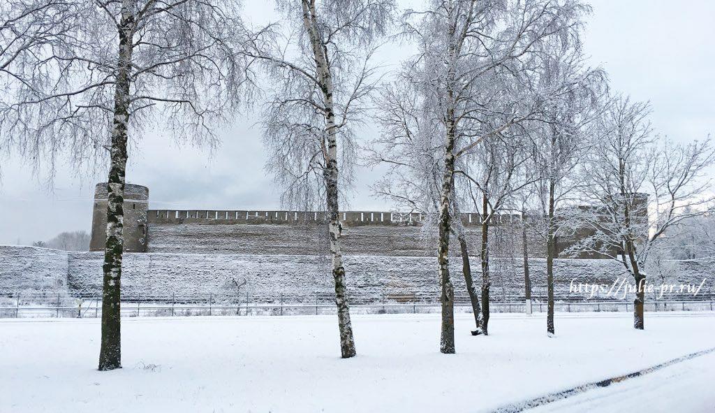 Крепость Ивангород, граница России и Эстонии