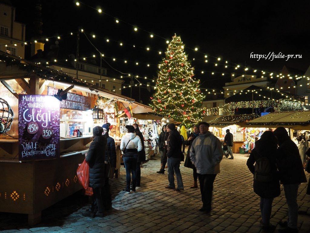 Таллин, рождественская ярмарка, Ратушная площадь