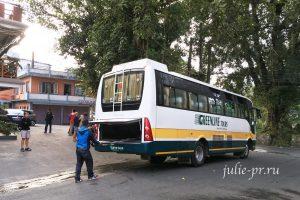 Непал, Покхара, автобус Greenline