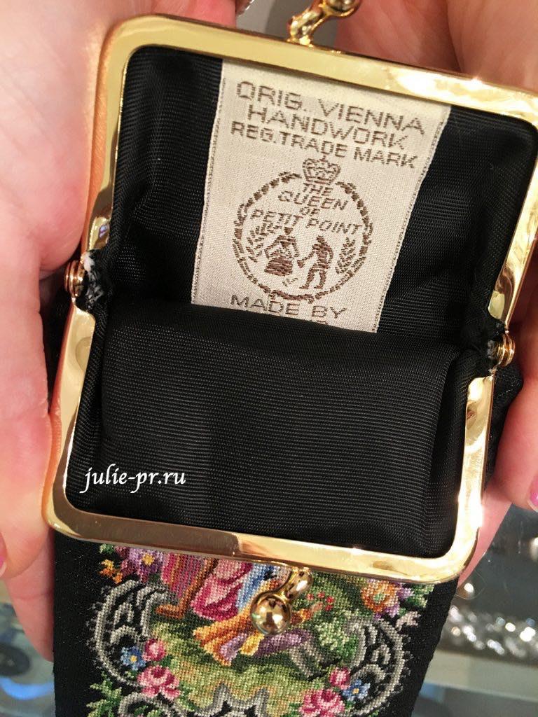 магазин Petit point Maria Stranski, Вена, Австрия, вышивка петит поинт, ридикюль
